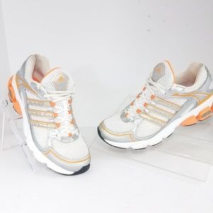 Adidas Adiprene Silver/Grey Orange White Size 8.5